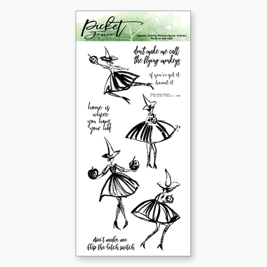 Picket Fence Studios IF YOU'VE GOT IT, HAUNT IT Clear Stamp Set h106 zoom image
