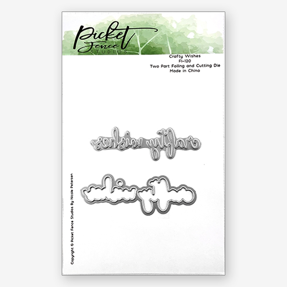 Picket Fence Studios CRAFTY WISHES Foiled Impressions Dies fi120 zoom image