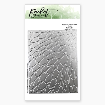 Picket Fence Studios FEATHERS COVER PLATE Foiled Impressions Die fi115