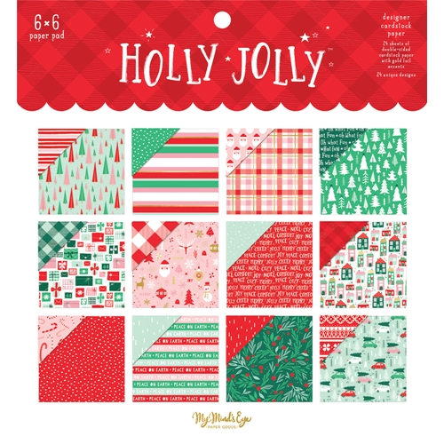 My Mind's Eye HOLLY JOLLY 6 x 6 Paper Pad hjl110 Preview Image