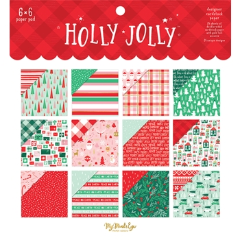 My Mind's Eye HOLLY JOLLY 6 x 6 Paper Pad hjl110