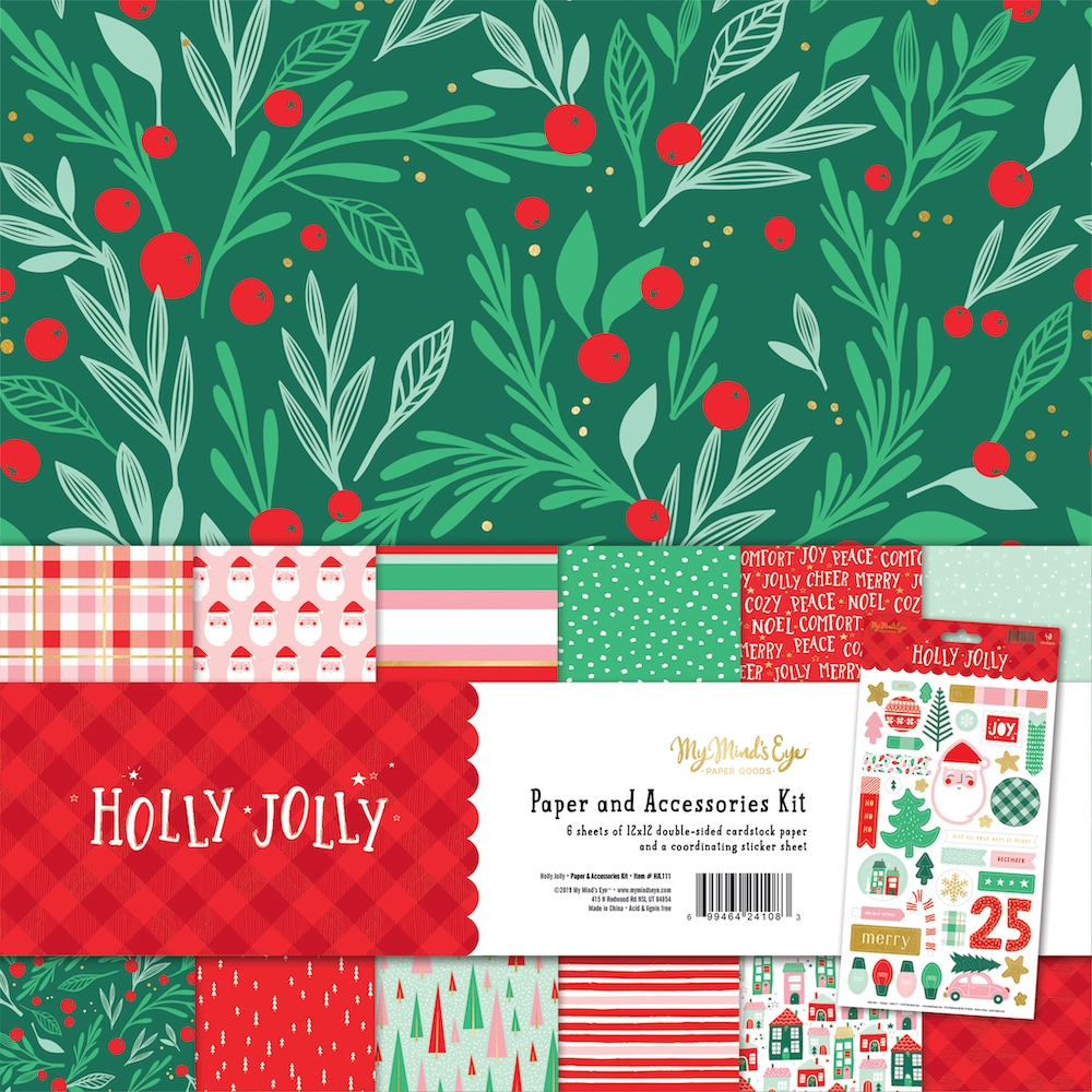 My Mind's Eye HOLLY JOLLY 12 x 12 Collection Pack hjl111 zoom image