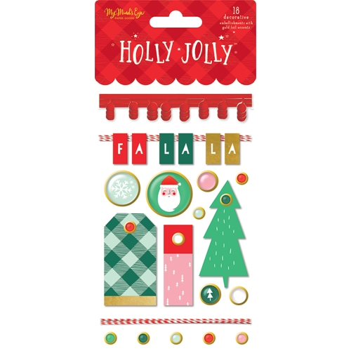 My Mind's Eye HOLLY JOLLY Embellishments hjl112* Preview Image