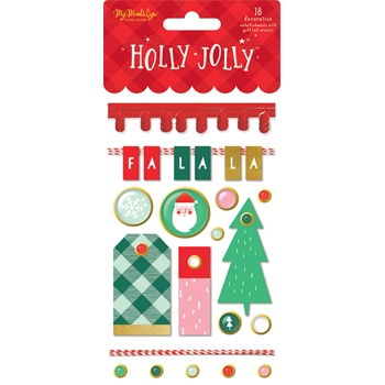 My Mind's Eye HOLLY JOLLY Embellishments hjl112
