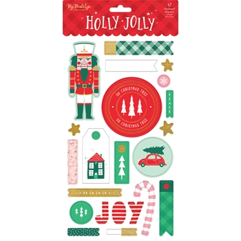 My Mind's Eye HOLLY JOLLY Chipboard Embellishments hjl113