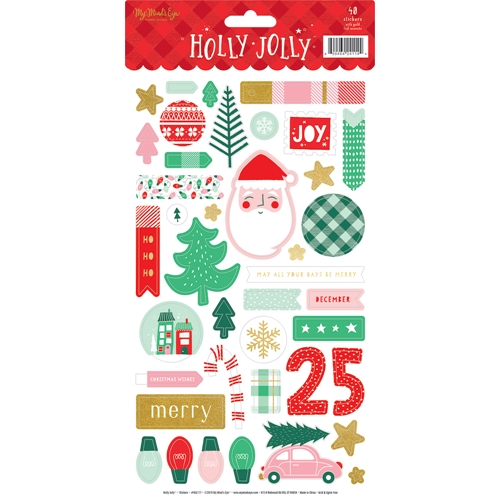 My Mind's Eye HOLLY JOLLY Sticker Sheet hjl117 Preview Image