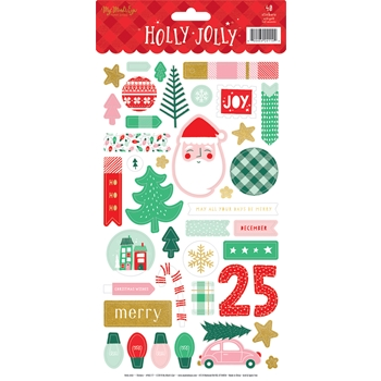 My Mind's Eye HOLLY JOLLY Sticker Sheet hjl117