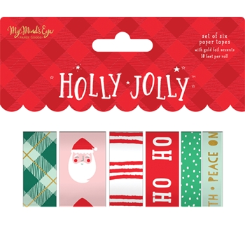 My Mind's Eye HOLLY JOLLY Washi Tape hjl119