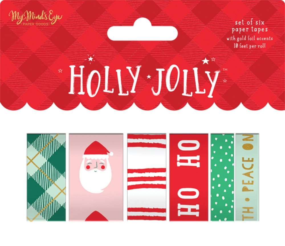 My Mind's Eye HOLLY JOLLY Washi Tape hjl119* zoom image