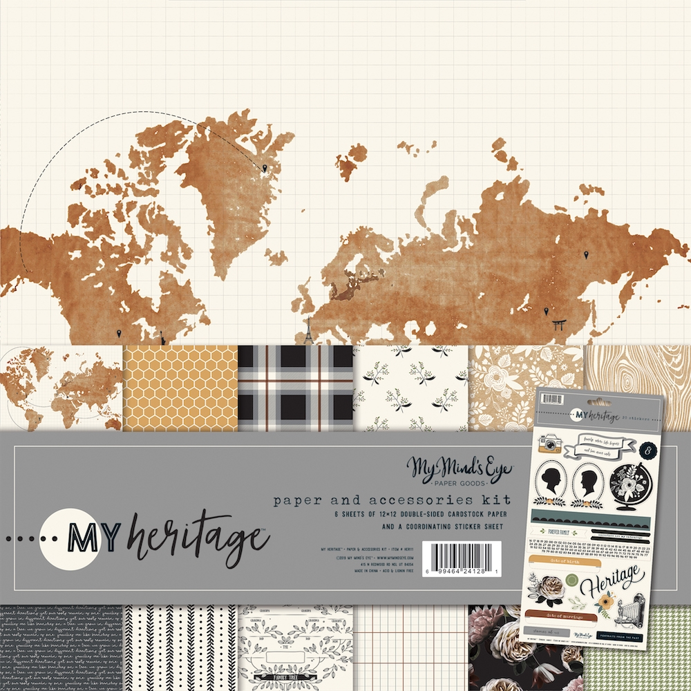 My Mind's Eye MY HERITAGE 12 x 12 Collection Pack her111 zoom image