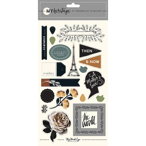 My Mind's Eye MY HERITAGE Chipboard Embellishments her113 Preview Image