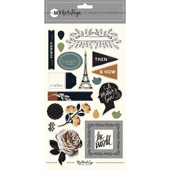 My Mind's Eye MY HERITAGE Chipboard Embellishments her113