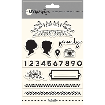 My Mind's Eye MY HERITAGE Clear Stamps her122