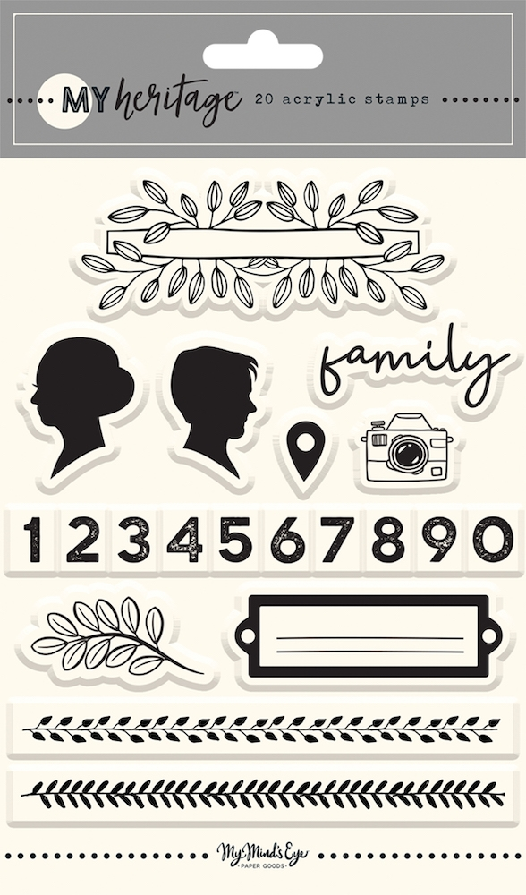 My Mind's Eye MY HERITAGE Clear Stamps her122* zoom image
