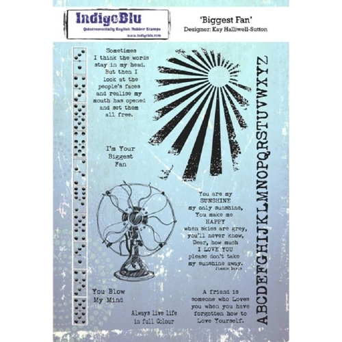 Indigoblu Cling Stamp BIGGEST FAN ind0530 Preview Image