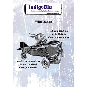 Indigoblu Cling Stamp WILD THINGS ind0559