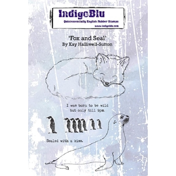 IndigoBlu Cling Stamp FOX AND SEAL ind0553
