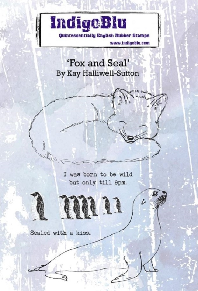 IndigoBlu Cling Stamp FOX AND SEAL ind0553 zoom image