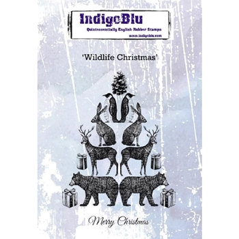 IndigoBlu Cling Stamp WILDLIFE CHRISTMAS ind0552