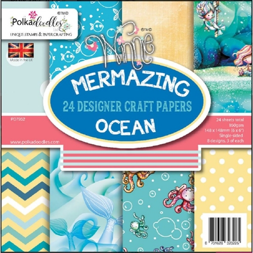 Polkadoodles MERMAZING OCEAN 6x6 Paper Pack pd7952 Preview Image