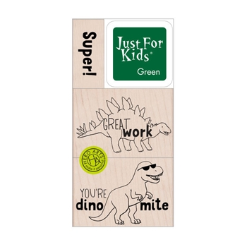 Hero Arts Wood Block Stamps with Ink Pad SUPER DINO LP487