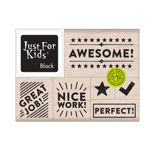 Hero Arts Wood Block Stamps with Ink Pad AWESOME! LP489 Preview Image