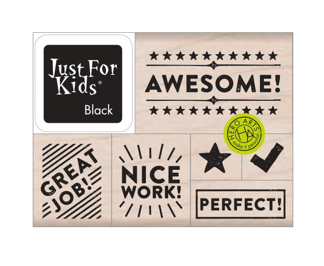 Hero Arts Wood Block Stamps with Ink Pad AWESOME! LP489 zoom image