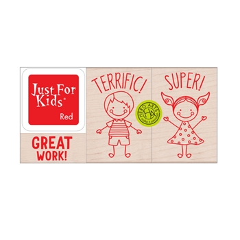 Hero Arts Wood Block Stamps with Ink Pad HERO KIDS LP490