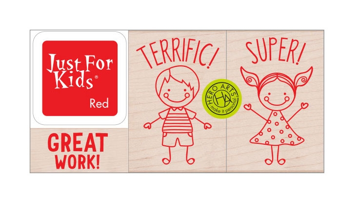 Hero Arts Wood Block Stamps with Ink Pad HERO KIDS LP490 zoom image