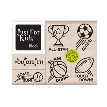 Hero Arts Wood Block Stamps with Ink Pad SLAM DUNK LP488