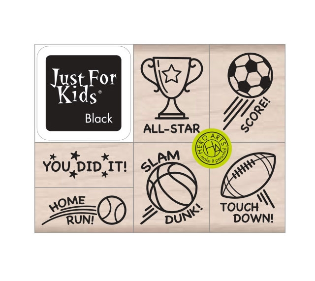 Hero Arts Wood Block Stamps with Ink Pad SLAM DUNK LP488* zoom image