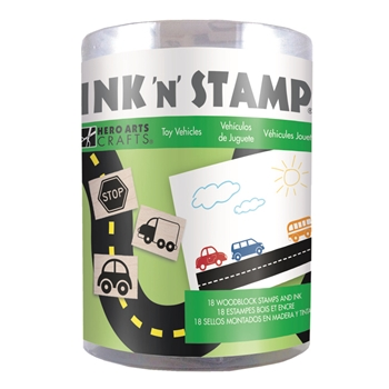 Hero Arts Ink N Stamp TOY VEHICLES LP492