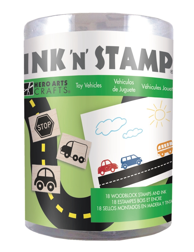 Hero Arts Ink N Stamp TOY VEHICLES LP492 zoom image