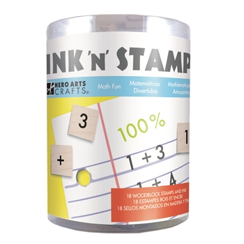 Hero Arts Ink N Stamp MATH FUN LP491