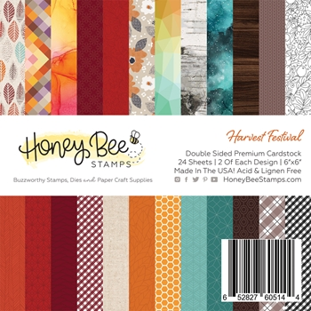 Honey Bee HARVEST FESTIVAL 6 x 6 Paper Pad hbpa-005