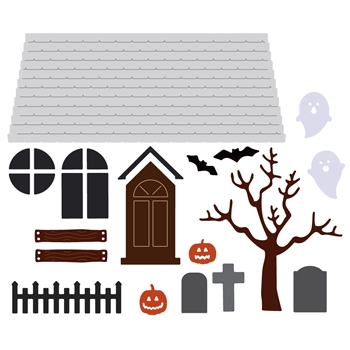 Honey Bee HAUNTED HOUSE ADD ON Dies hbds-hha