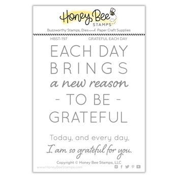 Honey Bee GRATEFUL EACH DAY Clear Stamp Set hbst-197