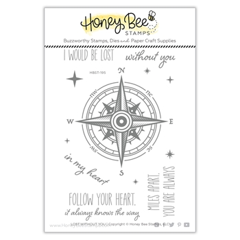 Honey Bee LOST WITHOUT YOU Clear Stamp Set hbst-195