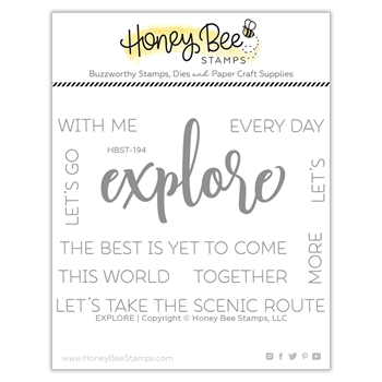 Honey Bee EXPLORE Clear Stamp Set hbst-194