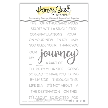Honey Bee JOURNEY Clear Stamp Set hbst-193