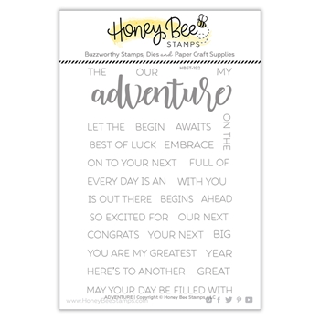 Honey Bee ADVENTURE Clear Stamp Set hbst-192