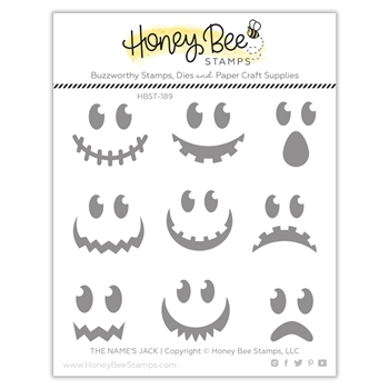 Honey Bee THE NAME'S JACK Clear Stamp Set hbst-189