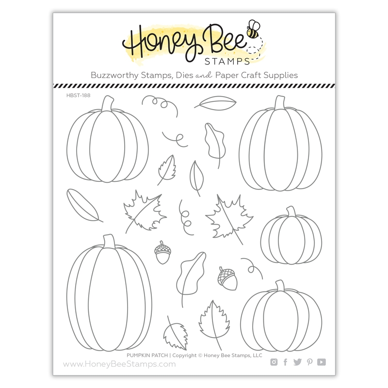 Honey Bee PUMPKIN PATCH Clear Stamp Set hbst-188 zoom image