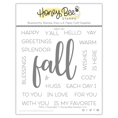 Honey Bee FALL Clear Stamp Set hbst-187 Preview Image