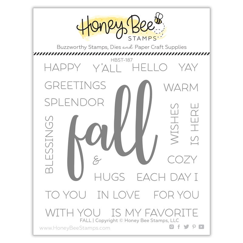 Honey Bee FALL Clear Stamp Set hbst-187 zoom image