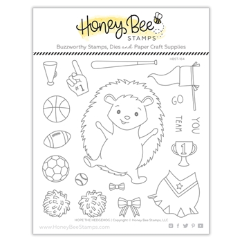 Honey Bee HOPE THE HEDGEHOG Clear Stamp Set hbst-184