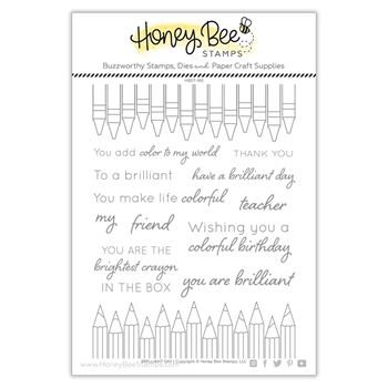 Honey Bee BRILLIANT DAY Clear Stamp Set hbst-183