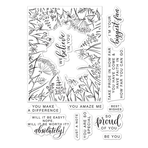 Hero Arts Partnership Clear Stamps Pinkfresh Studio YOU MAKE A DIFFERENCE PR102 Preview Image