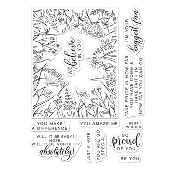 Hero Arts Partnership Clear Stamps Pinkfresh Studio YOU MAKE A DIFFERENCE PR102