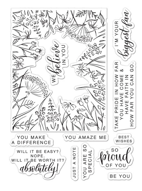 Hero Arts Partnership Clear Stamps Pinkfresh Studio YOU MAKE A DIFFERENCE PR102 zoom image